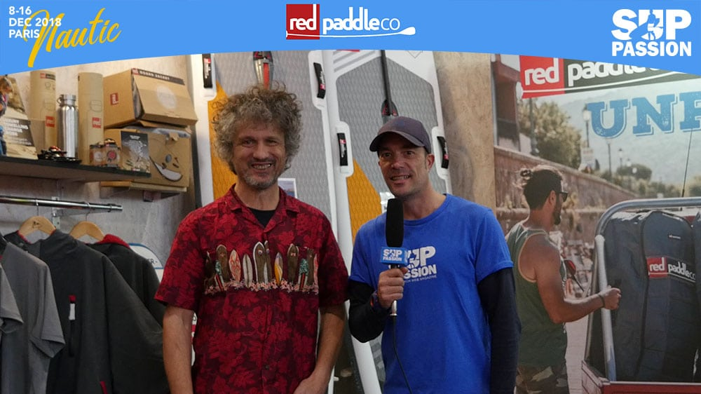 Interview de Loïc au stand Red Paddle Co du Salon Nautique Paris 2018