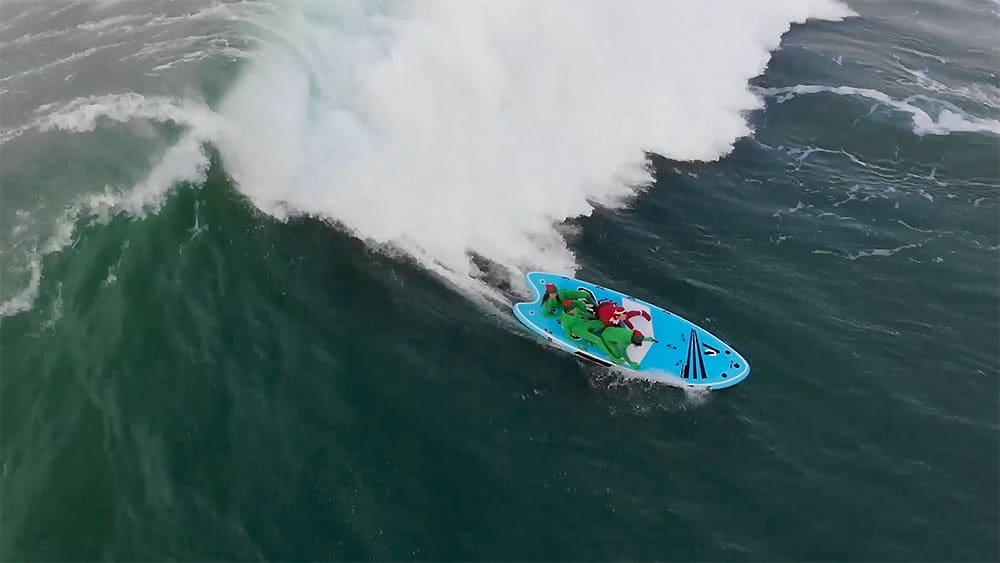 Vidéo stand up paddle Goliath de Noël dans les grosses vagues