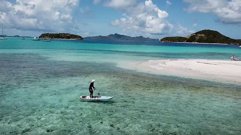 Vidéo Sup aux Tobago Cayes avec Sarah Hébert et sa famille