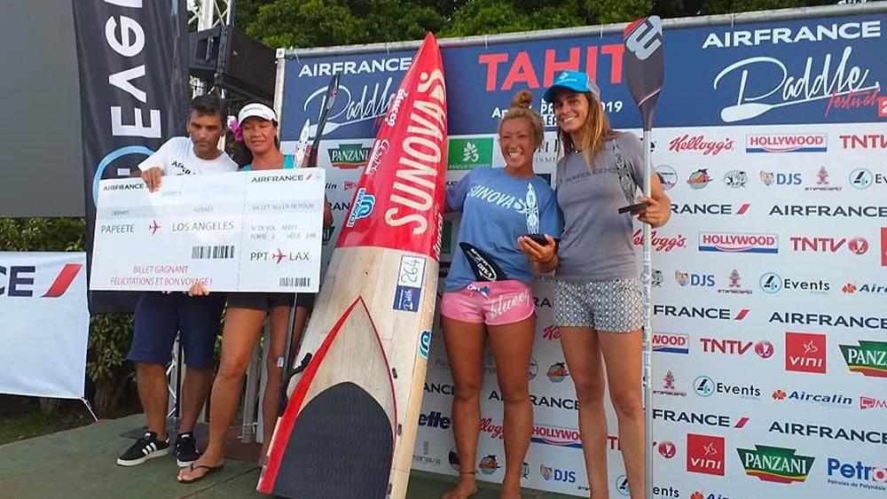 Titouan Puyo et Yuka Sato remportent l'Air France Paddle Festival