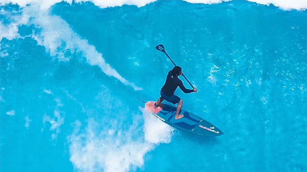 Vidéo Citywave Paddle Surf Action avec Starboard en Israel