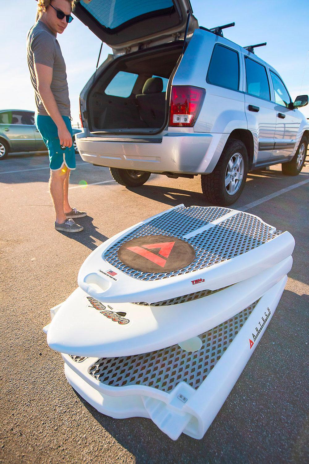 stand up paddle démontable en trois parties