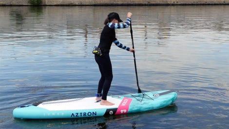 "Sup gonflable Lunar Aztron 9'9"", vidéo test du stand up paddle"