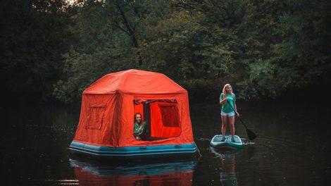 Tente flottante SmithFly Shoal Tent, partez en Sup Trip sur l'eau