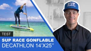 Stand up paddle Itiwit gonflable de course 14x25