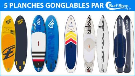 Cinq Sup gonflables sélectionnés pas SurfShop.fr pour l'été