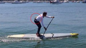 Ceinture d'hydratation Itiwit de stand up paddle