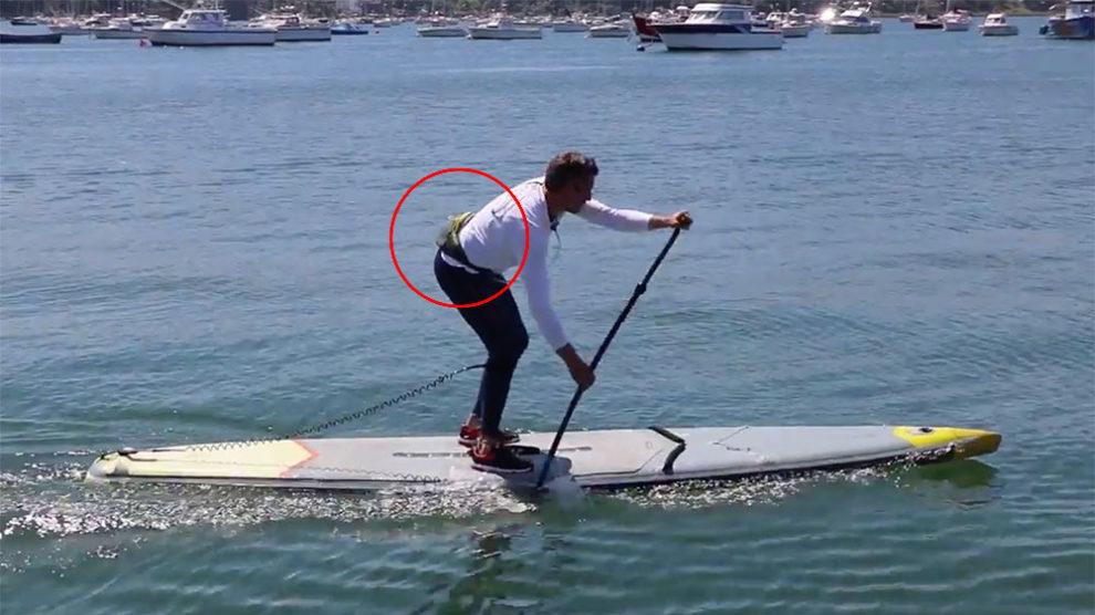 Ceinture d'hydratation Itiwit de stand up paddle