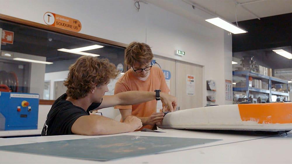 Vidéo de la conception des stand up paddle surf Itiwit