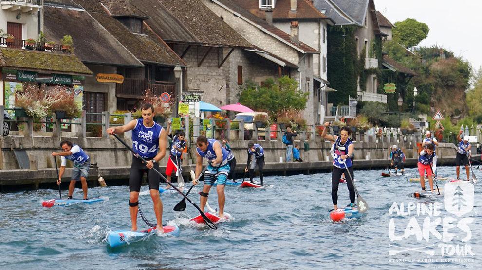 Canal de Savières, 2ème étape de l'Alpine Lakes Tour
