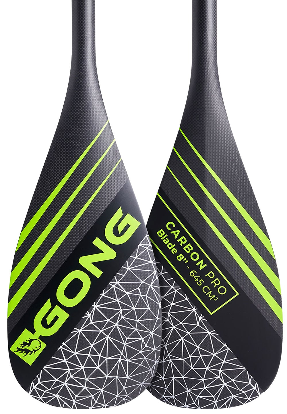 Pagaie Gong Carbon Pro stand up paddle poigne manche