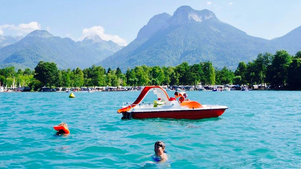 Lac d'Annecy, toujours pas de paddle