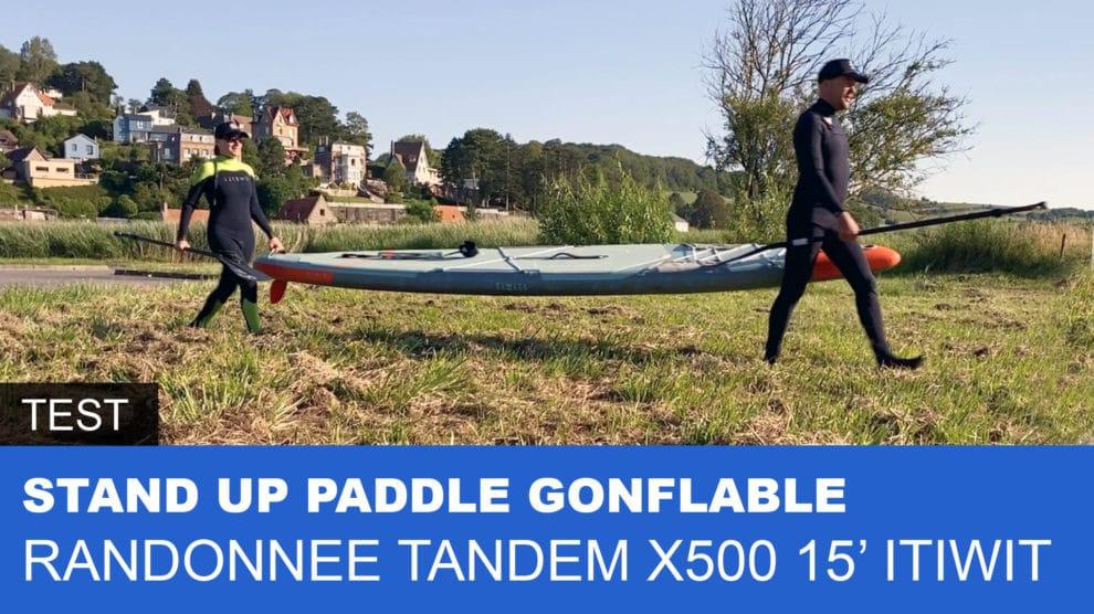Paddle gonflable tandem 15' Decathlon