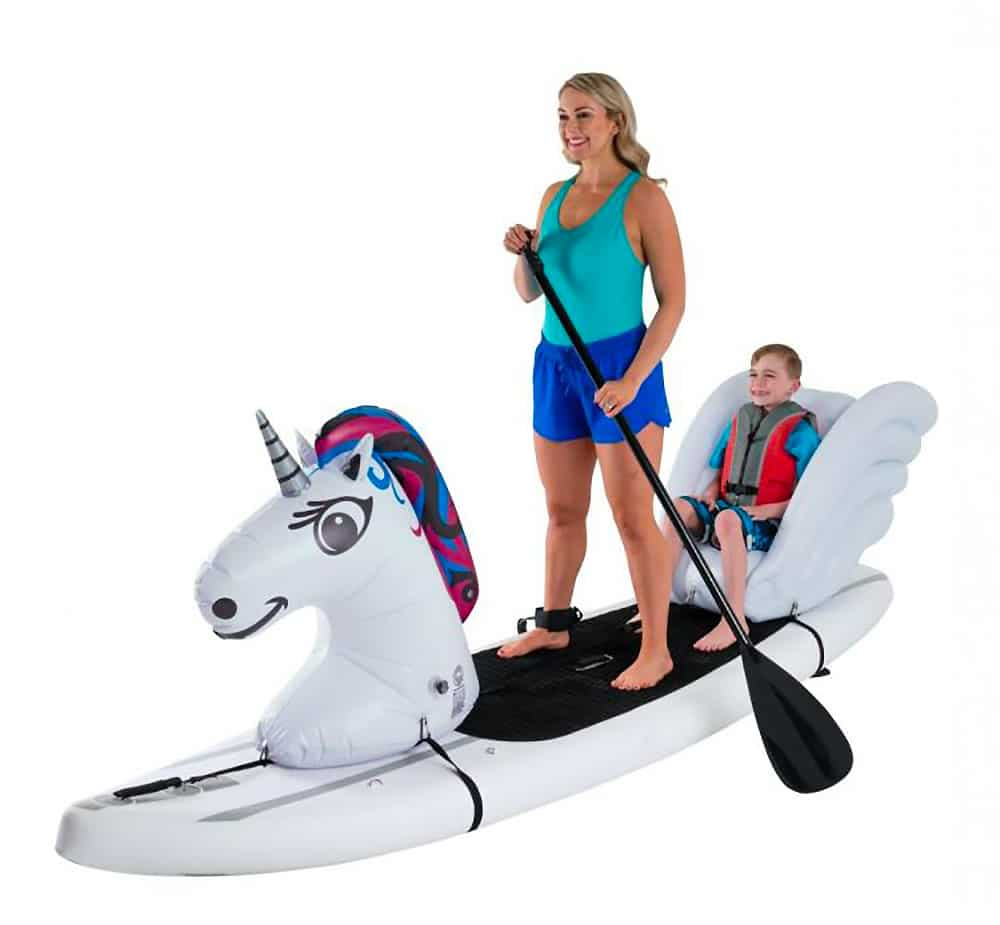 Animal gonflable licorne paddle