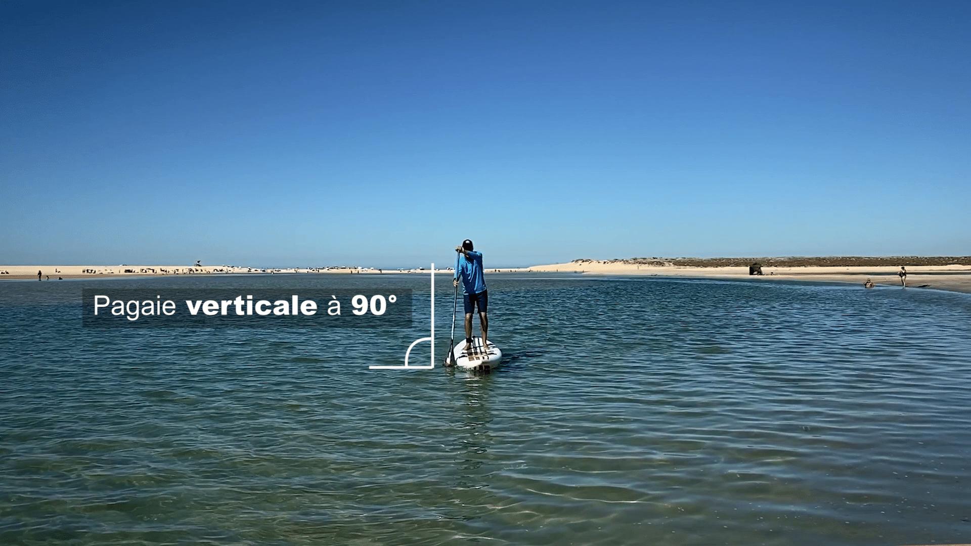 pagaie verticale en paddle