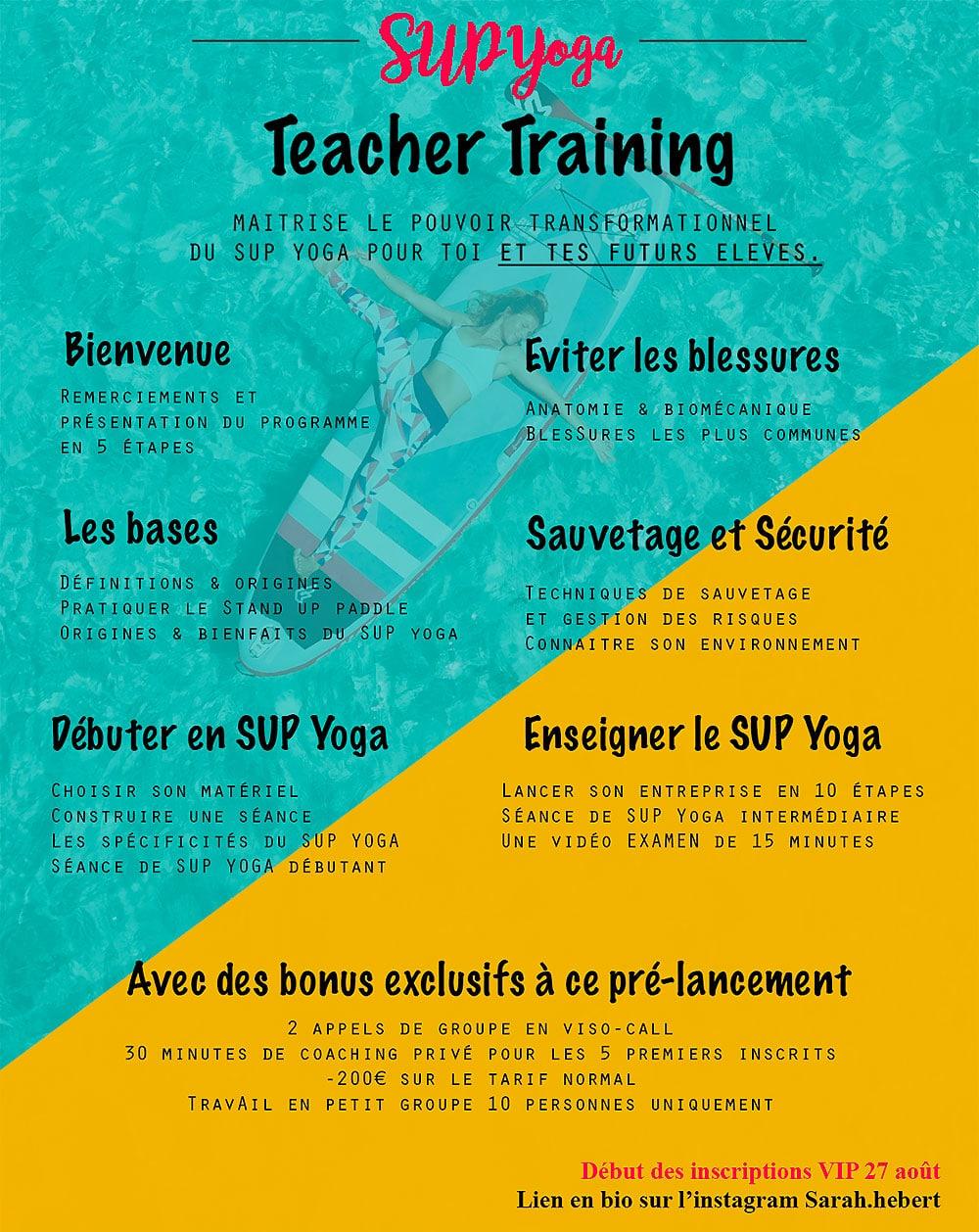 Sup Yoga teacher training online