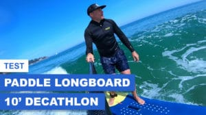 Paddle gonflable longboard surf Decathlon