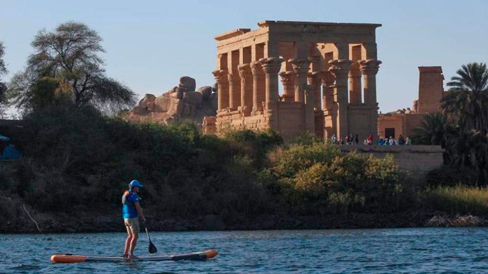 Stand up paddle sur le Nil