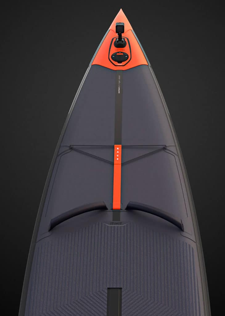 "Stand up paddle race Decathlon 14'x27"" nose"
