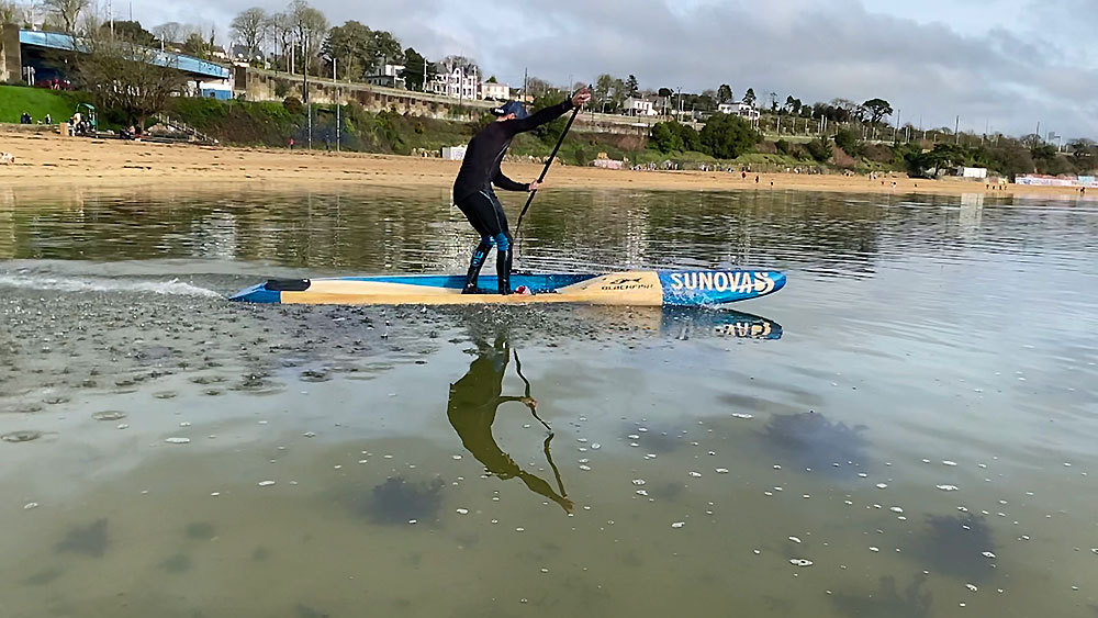 Beach Start stand up paddle race, pagayer ...