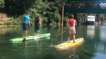 Pagaies couleurs en stand up paddle