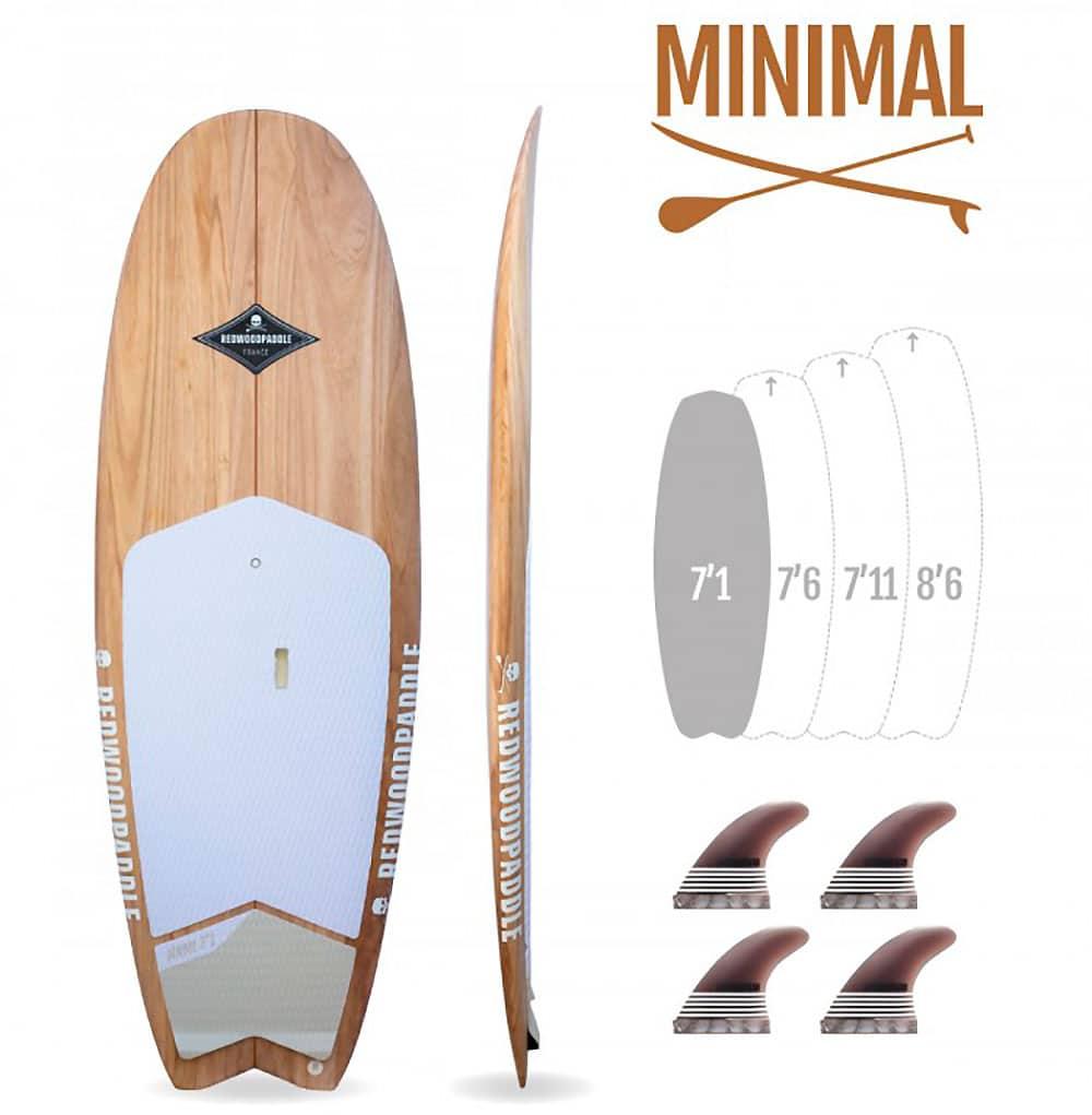 MINIMAL 7'1 Natural - REDWOODPADDLE Stand up paddle