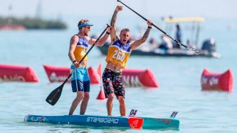 A close battle between Baxter and Garioud. | Photo courtesy: International Canoe Federation