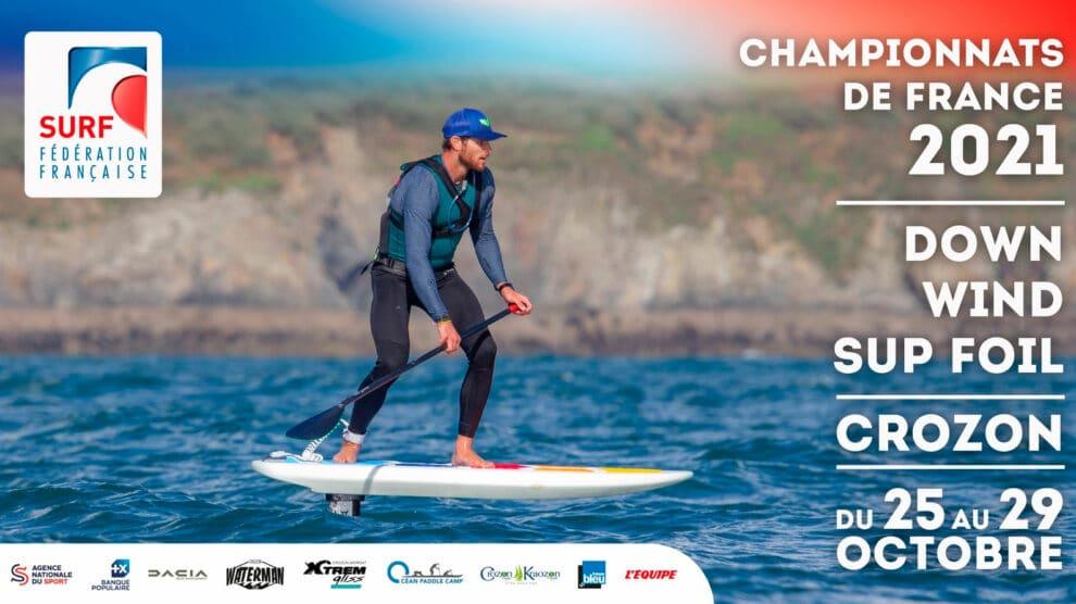 Les premiers championnats de France Downwind Sup Foil se dérouleront sur une période d'attente du 25 au 29 octobre 2020 à Crozon.